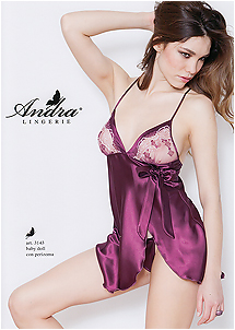 size chart satin lingerie nightgown