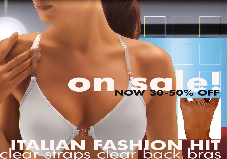 backless bra - clear back bras - transparent back