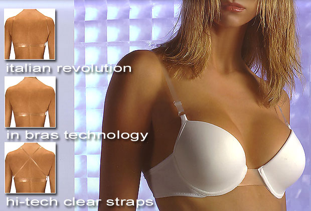 f91411fa17e02 Italian lingerie - Bras - Clear straps bras - Backless bras - Double ...