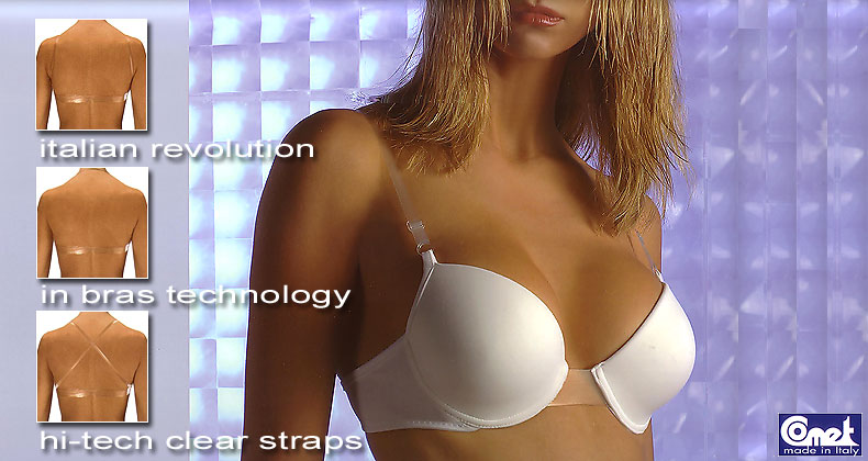 Clear straps clear back bras