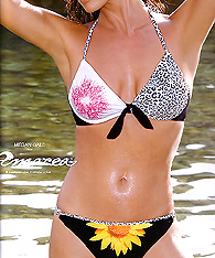 Bathing suit black animal prints on white - Amarea style 196