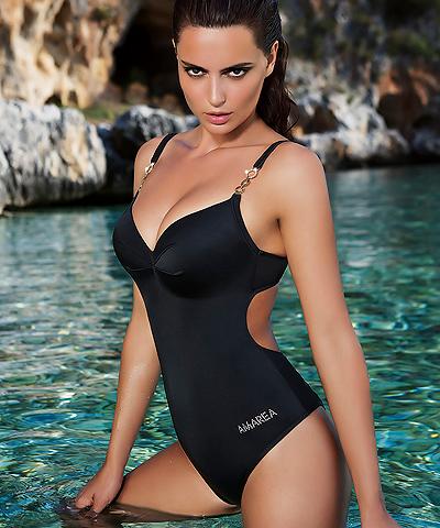 dd11155be6 Underwire Push Up One-piece swimsuit  Amarea 039