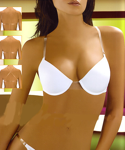 classic latest selection of 2019 big discount Super Push Up Clear strap - clear back bras: Visione Miracle ...