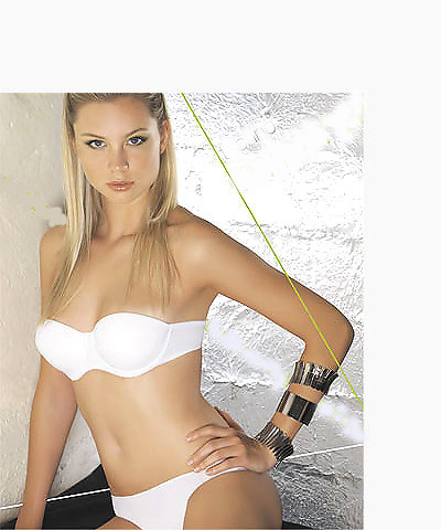 Strapless bras - clear straps push-up bras - Kelitha style 1893-1874