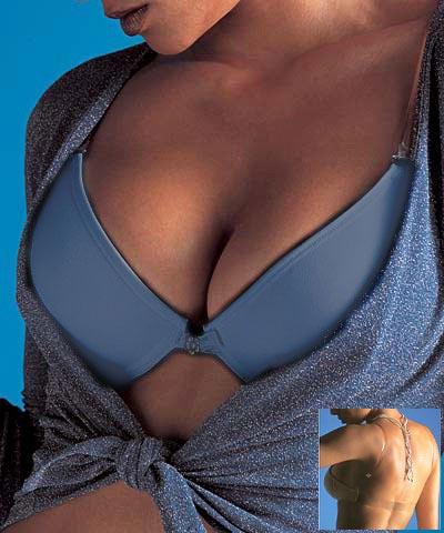 Bras padded push up with clear back - Natural art.1873 c