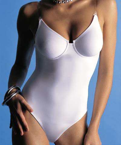 Bodysuit with clear straps - Natural art.4887