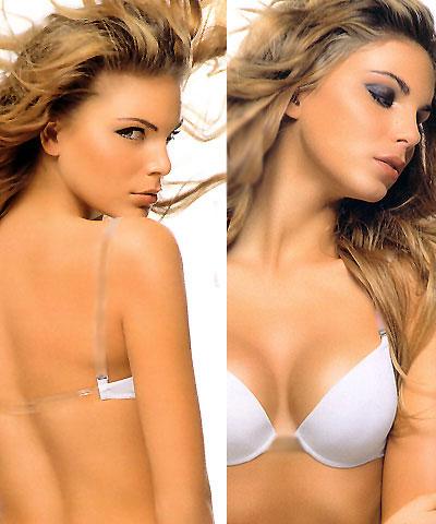 Transparent straps - clear back gel bra - Papillon P2728