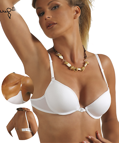 clear back push up bras - Intimo2c R3574