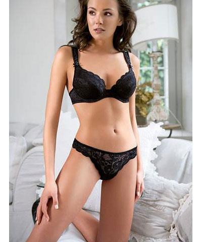 full-coverage lacy bra   - RAFFAELLA