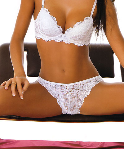 Sielei 1675 white lace brief  16