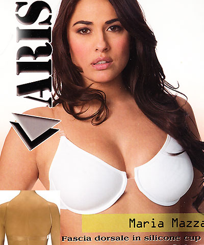 Clear center unlined clear back bra - Visione Mazza