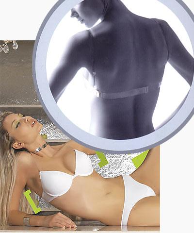 Backless clear strap bra with clear back - Kelitha 1924 Ninfea