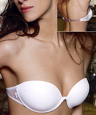 Underwired Push up bra with transparent back