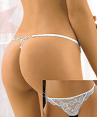 Thong in floral lace  - LIZA