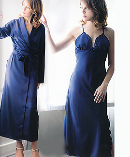 Long night gown and long light robe -  -