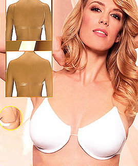 clear straps - clear back - NON push up, non padded bra