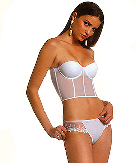 underwired push up bustier