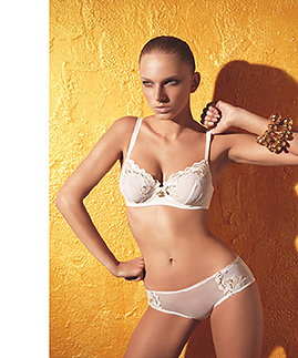 Lingerie set: unlined bra and briefs by Laura Biagiotti -  -