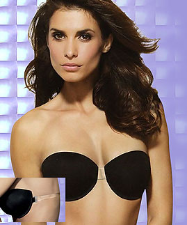 Clear center clear back bra -  -