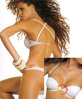Clear Strap Push up Bras - Bare Back Effect -  -