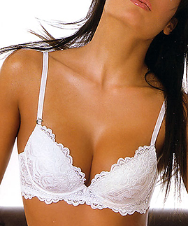 Push up bra with graduated cups