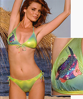 Green Sexy Bikinis unlined wireless -  -