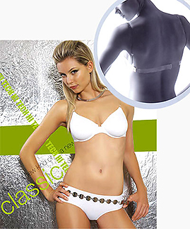 Backless - Non push up clear strap bra with clear back