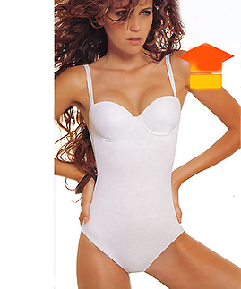 Convertible Strapless - Clear  Strap Bodysuits -  -