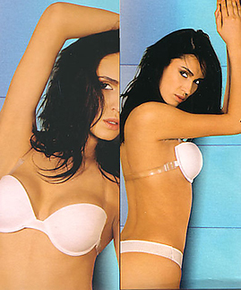 Backless clear straps bras - strapless bras with clear back -  -