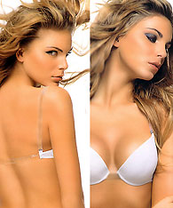 Transparent straps - clear back gel bra - Papillon P2728 - Demi bras