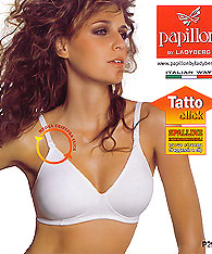 Clear strap NO wire seamless bras Papillon P2920