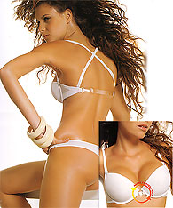 Push up Clear Strap Bras with Bare Back Effect - Papillon P2928 - Backless bras