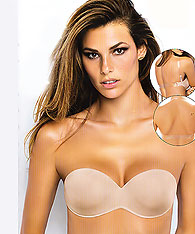 Strapless backless push up padded bra with clear back - SIeLEI art.1570N