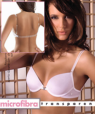Clear straps padded push up bras with clear back strap -  -