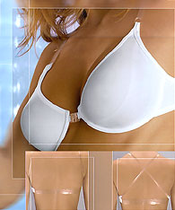 Clear strap bras - clear back unlined soft cup bras -  -