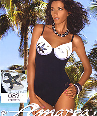 Underwire One-piece swimsuits - Amarea style 082