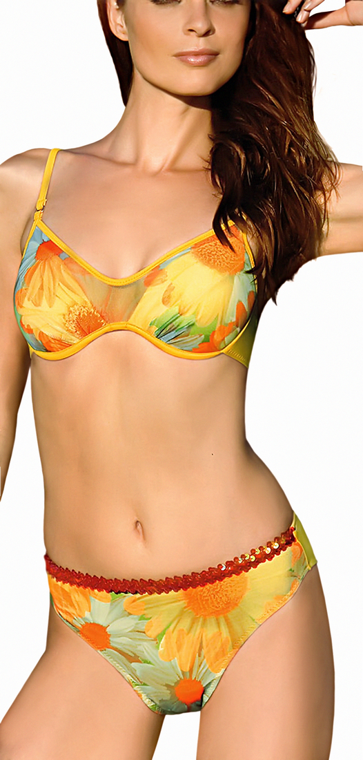 Full coverage push up bathing suite - Amarea style 050