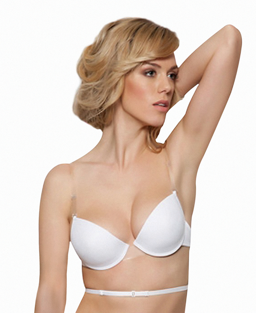 Low back Clear center Push Up bra - Miss Ari  1855