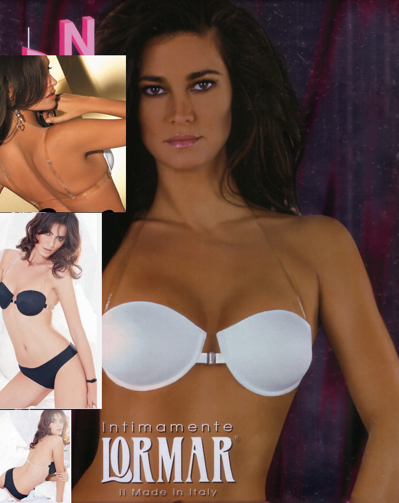 Strapless Push Up with totally transparent clear back - Lormar Nudo 6461