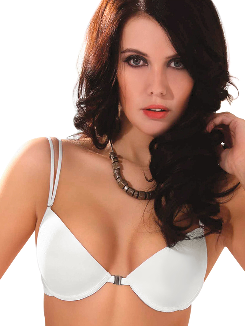 Clear strap padded push up bras with clear back strap - Natural art.1873 Ninfea