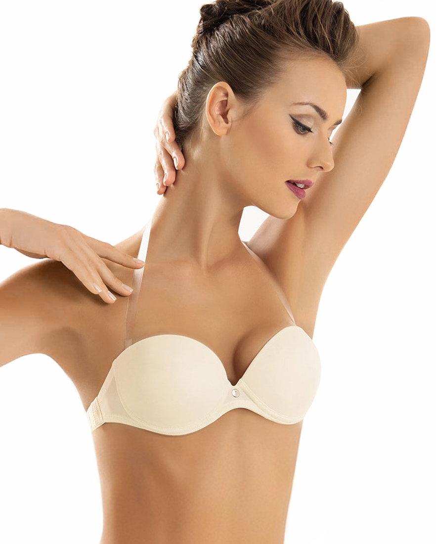 Bandeau bra with clear back  - SIELEI 1660