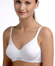 organic cotton bra  -  -