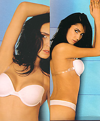 picture bra size - clear back bra