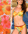 yellow Underwire Push up full coverage two piece swimsuits - Bikini Amarea style 050FKS