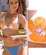 halter top & string bottom bathing suit - Amarea style 180