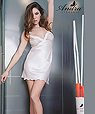 Lace satin slip nightgown - Andra style 3142