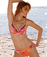 Italian women's Designer Swimwear -  bikini style with push-up top and low-rise bottom - Bikini Amarea style 053 -