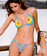 Women's designer swimwear - triangle halter top and string bikini - Amarea style 190 -