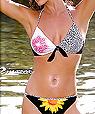 Women's designer swimwear -  top and string bikini - Amarea style 196 -