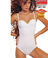 Convertible Strapless - Clear  Strap Bodysuits - Papillon P6920 -